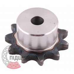 Plain bore roller chain sprocket 12B-1 - pitch 19.05mm, 11 Teath [Dunlop]