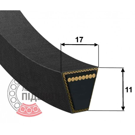 Classic V-belt 538714 [Claas] Bx1520 Harvest Belts [Stomil]