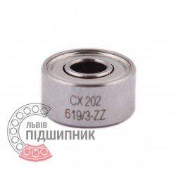 1000093 | 693 ZZ | 619/3-ZZ [CX] Мініатюрний кульковий підшипник