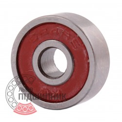 624 2RS Miniature deep groove ball bearing
