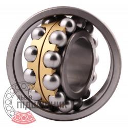 Пiдшипник кульковий дворядний сферичний 1616Л (2316M) [ГПЗ-4]