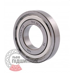 16004-A-2Z [FAG Schaeffler] Deep groove sealed ball bearing