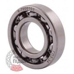 16003 | 6-7000103 [GPZ-34 Rostov] Deep groove open ball bearing