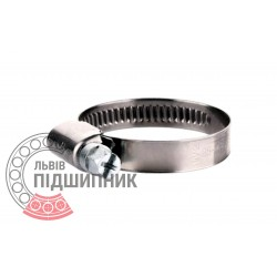 Worm clamp 25-40 / 9mm, Stainless steel [Profi]