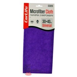 Microfiber cloth is purple (CarLife), 30x40cm