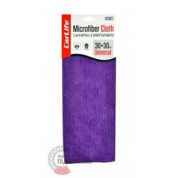 Microfiber cloth is purple (CarLife), 30x30cm