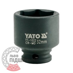 "Hexagonal impact socket 1/2\"" inch / 32 mm (YATO) | YT-1022"