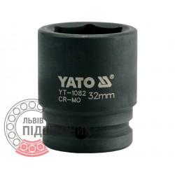 "Ударна голівка шестигранна 3/4\"" дюйм / 32 мм (YATO) | YT-1082"