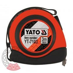 Рулетка з магнітом і автостопом 3 м x 16 мм (YATO)