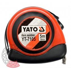 Рулетка з магнітом і автостопом 5 м x 19 мм (YATO)
