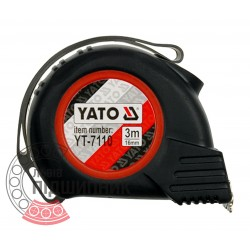 Tape measure with magnet and hitchhiking 8m x 25mm (YATO)